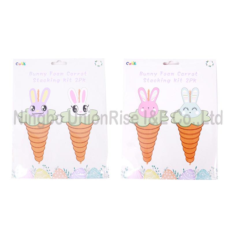 Bunny Foam Carrot Stacking Kit 2PK