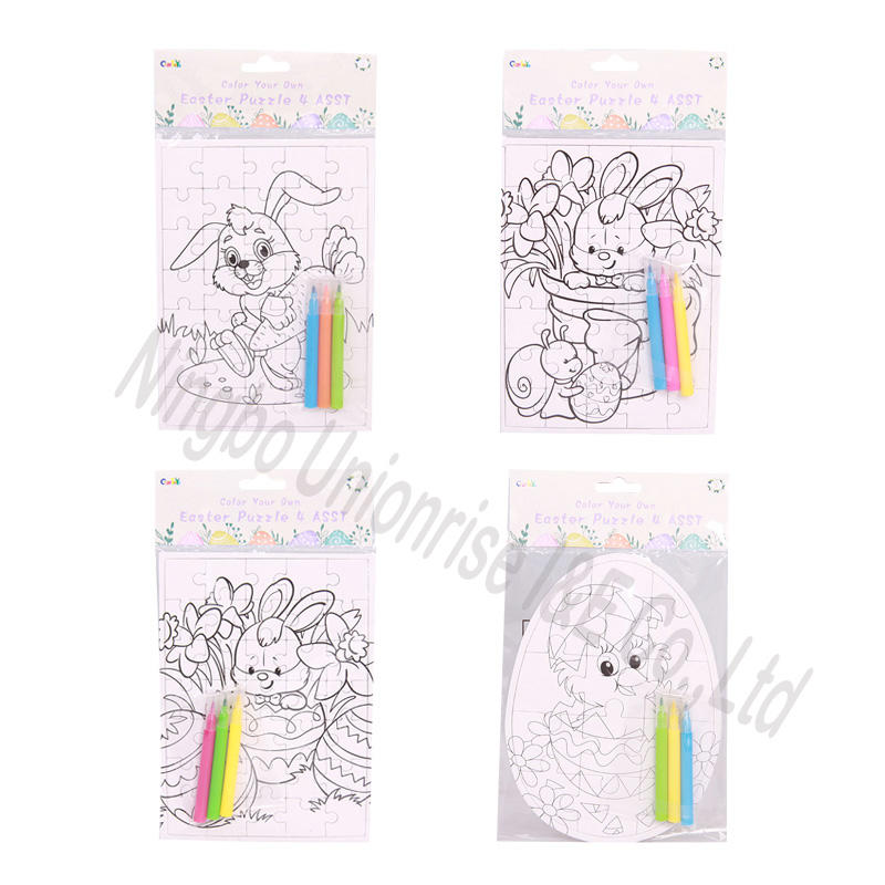 Color Your Own Easter Puzzle 4 Assortment