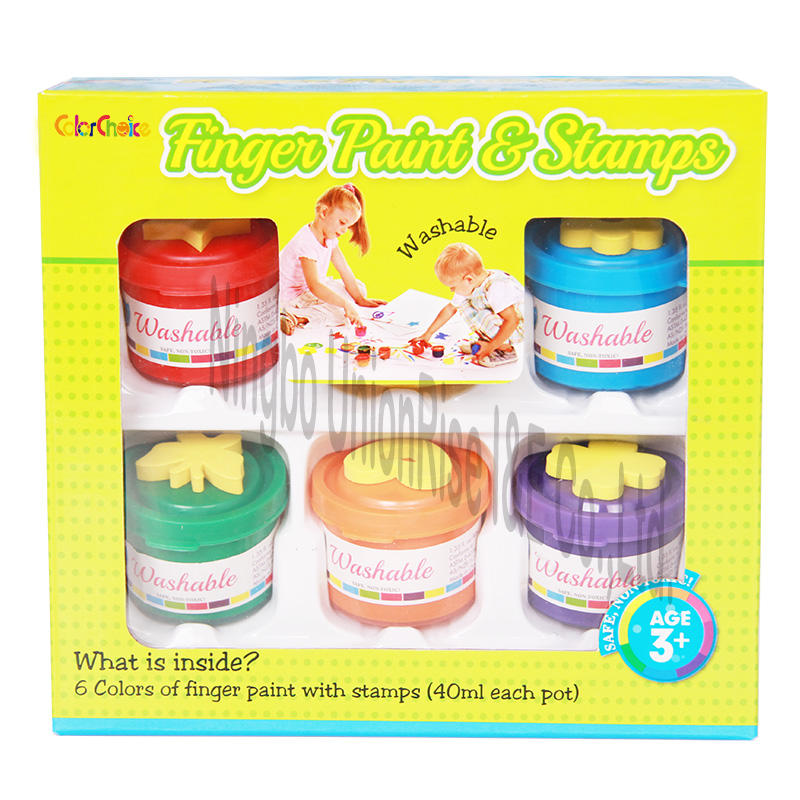 Finger Paint & Stamps