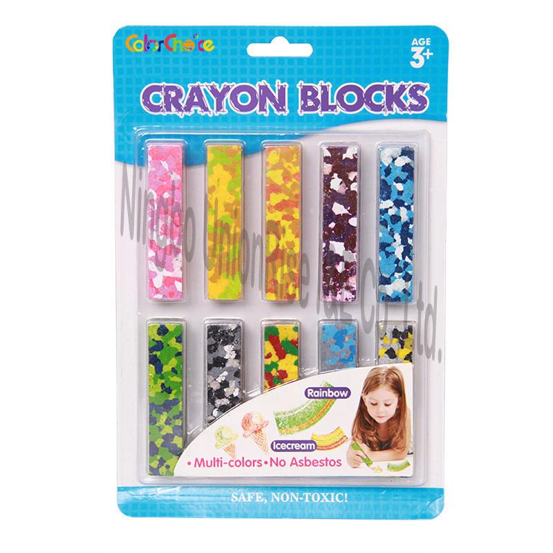 Crayon Blocks Multi-colors 10 Pieces