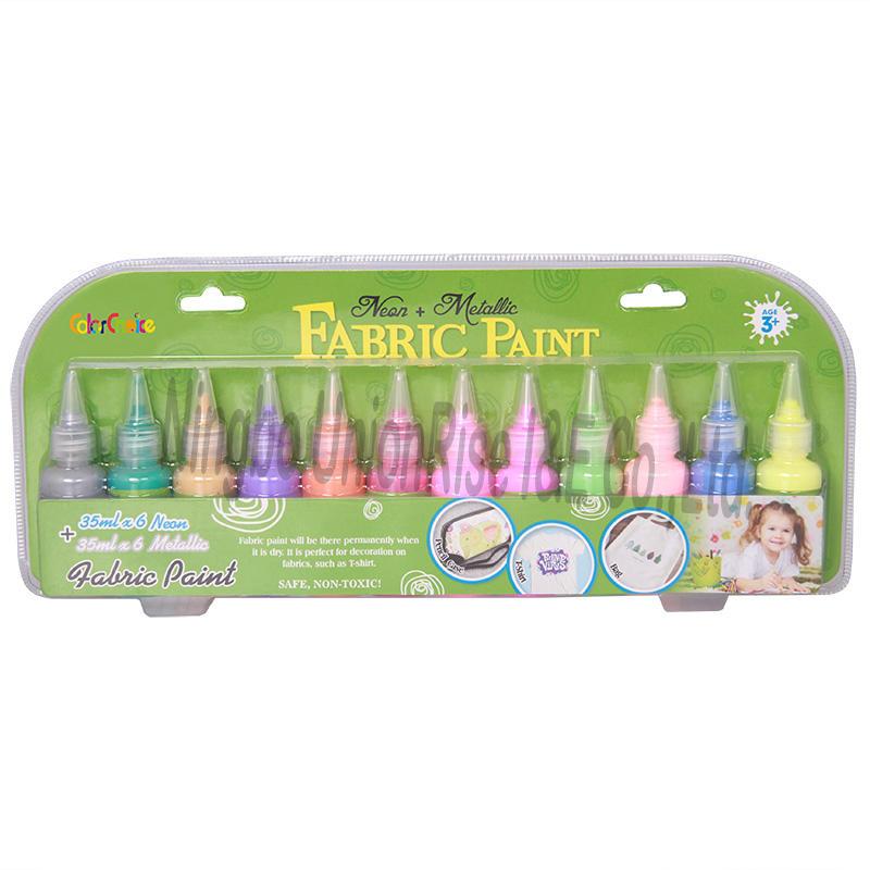 Fabric Paint Neon & Metallic