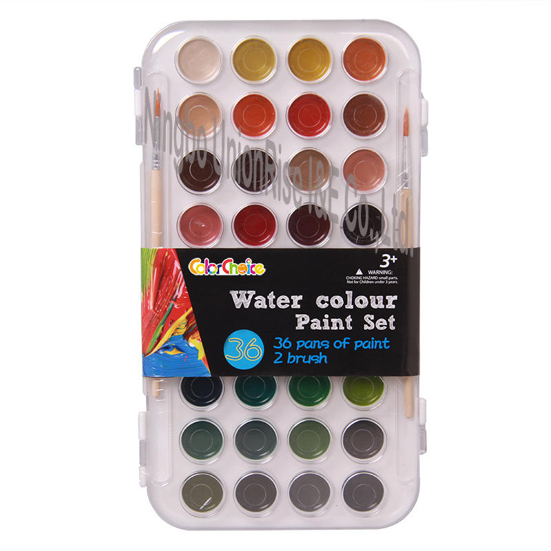 Water Colour Painting Set 36 Pieces & 2 Brushes