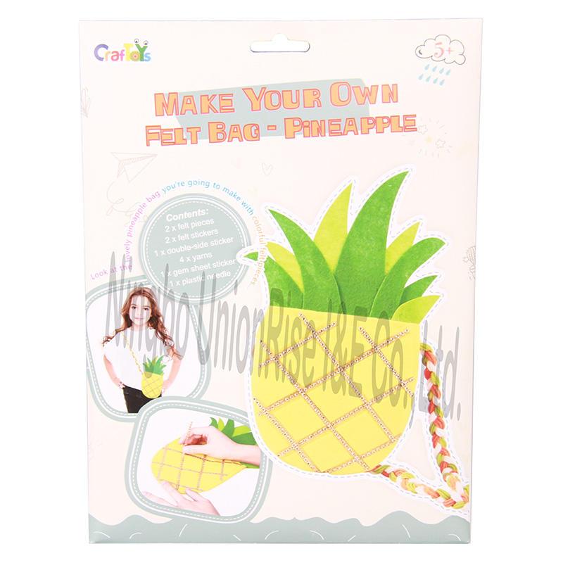 Make Your Own Felt Bag-Pineapple