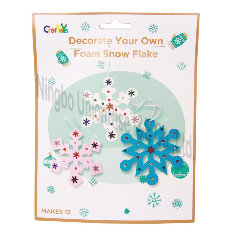 Decorate Your Own Foam Snow Flake