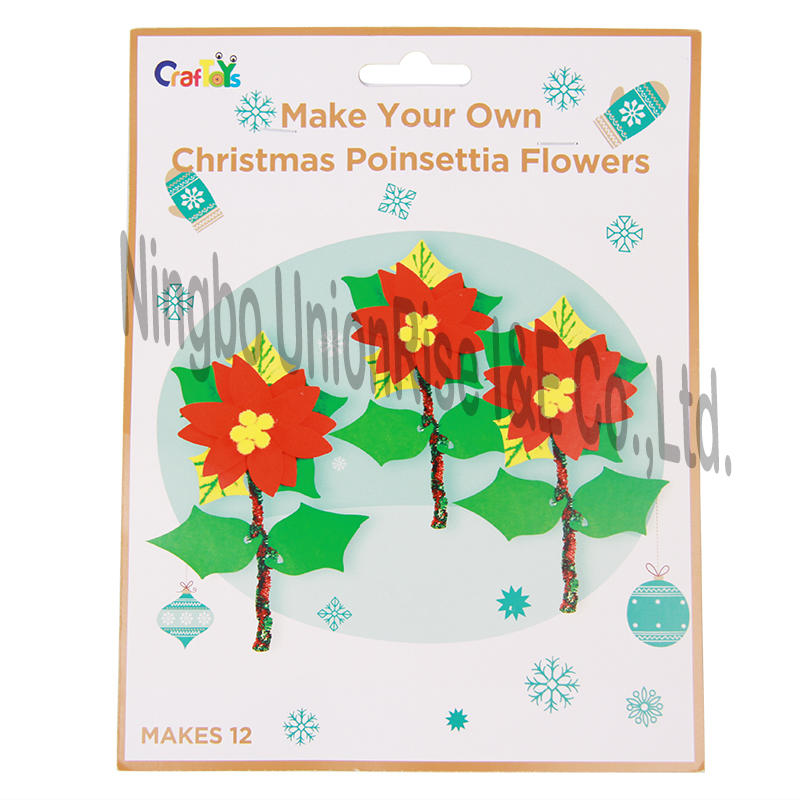 Make Your Own Christmas Poinsettia Flowers