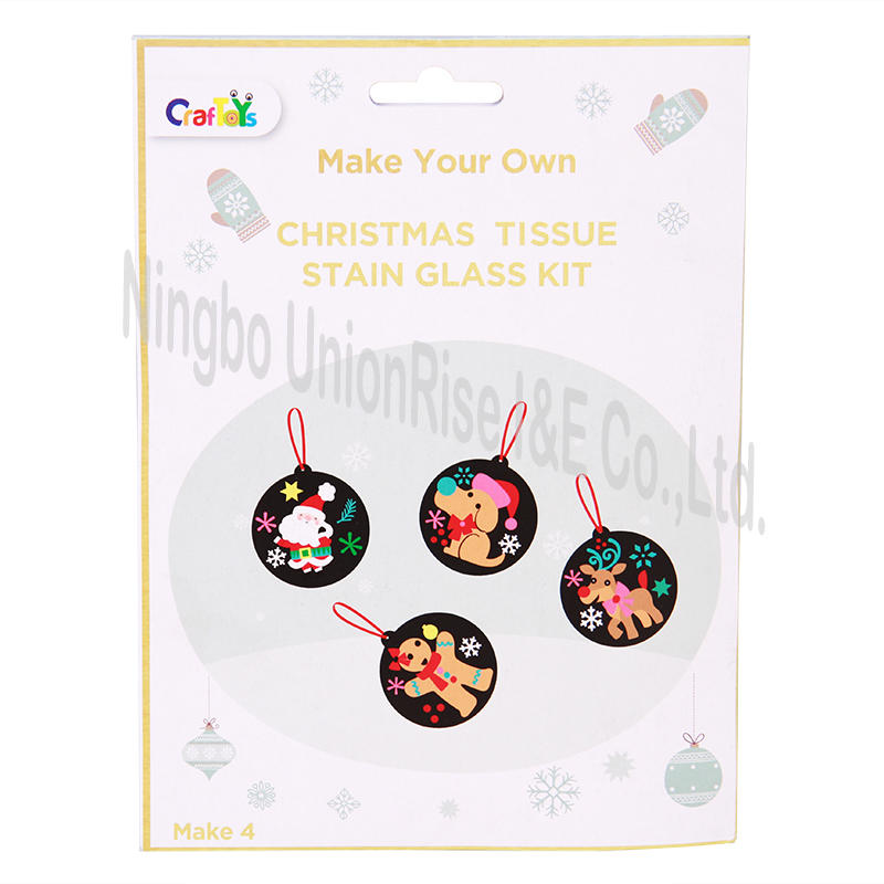 Make Your Own Christmas Tissue Stain Glass Kit