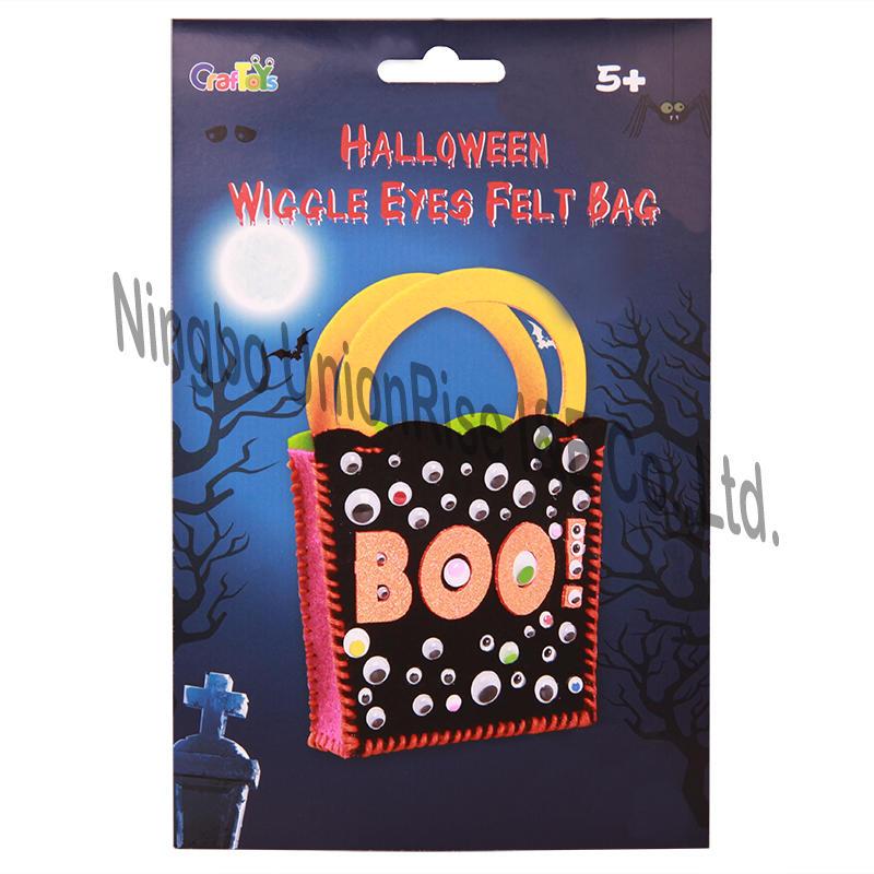 Halloween Wiggle Eyes Felt Bag