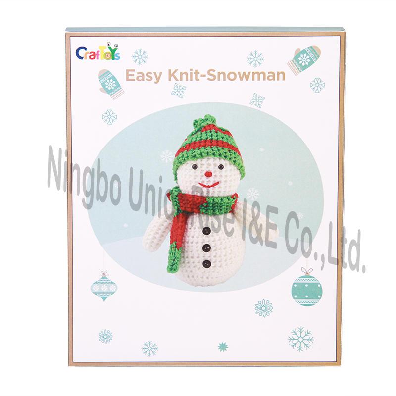 Easy Knit-Snowman Craft Set