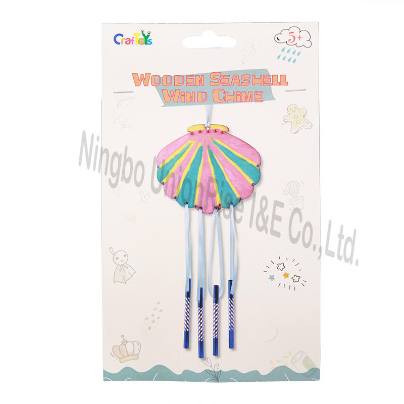 Wooden Seashell Wind Chime