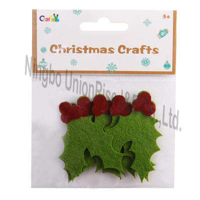 Christmas Felt Crafts Holly Leaves