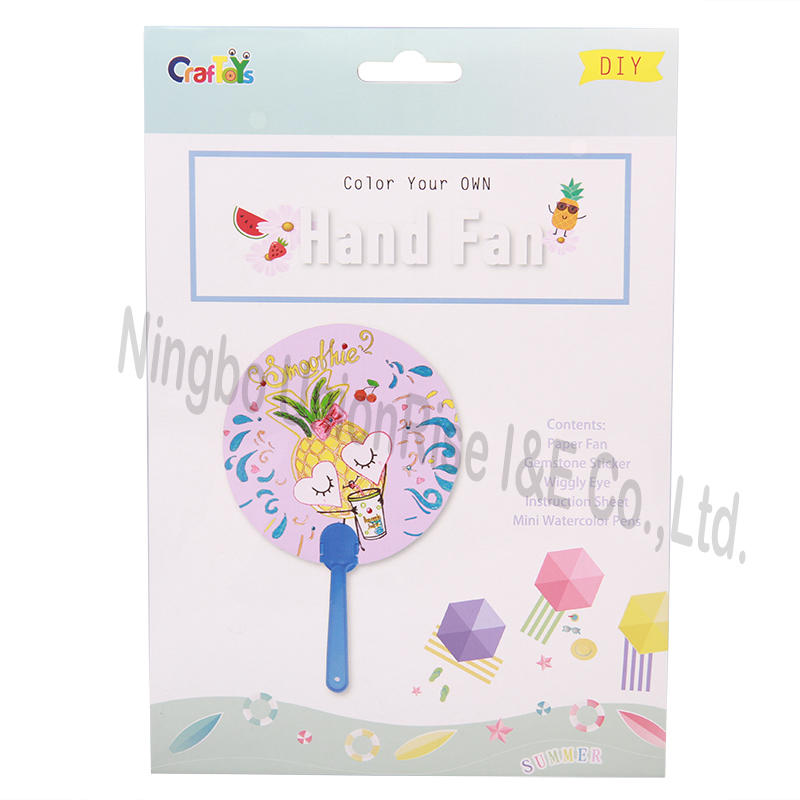 Color Your Own Hand Fan Pineapple