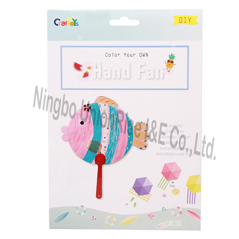Color Your Own Hand Fan Fish