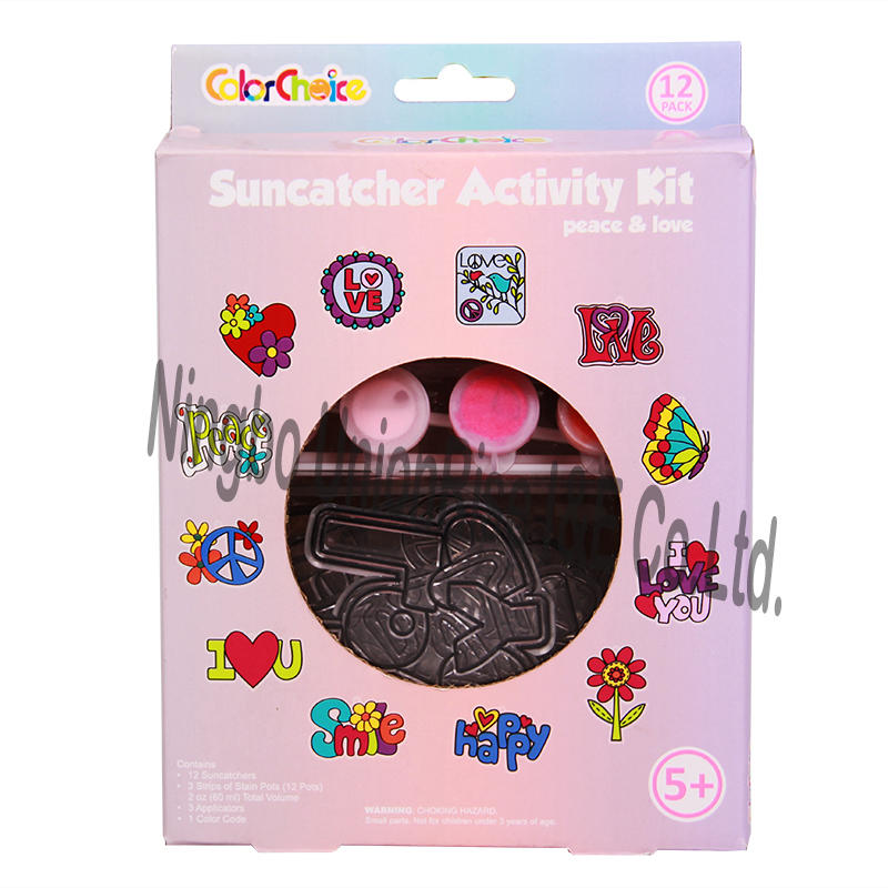 Suncatcher Activity Kit Peace & Love