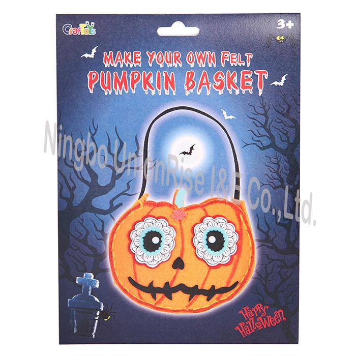 Make Your Own Felt Pumpkin Basket