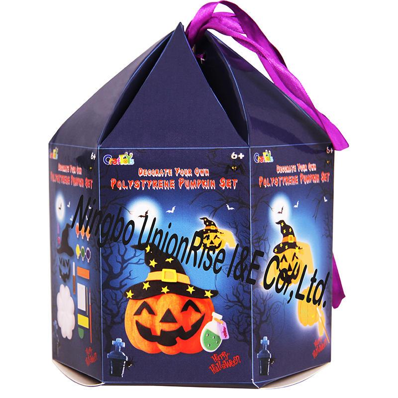 Decorate Your Own Polystyrene Pumpkin Set