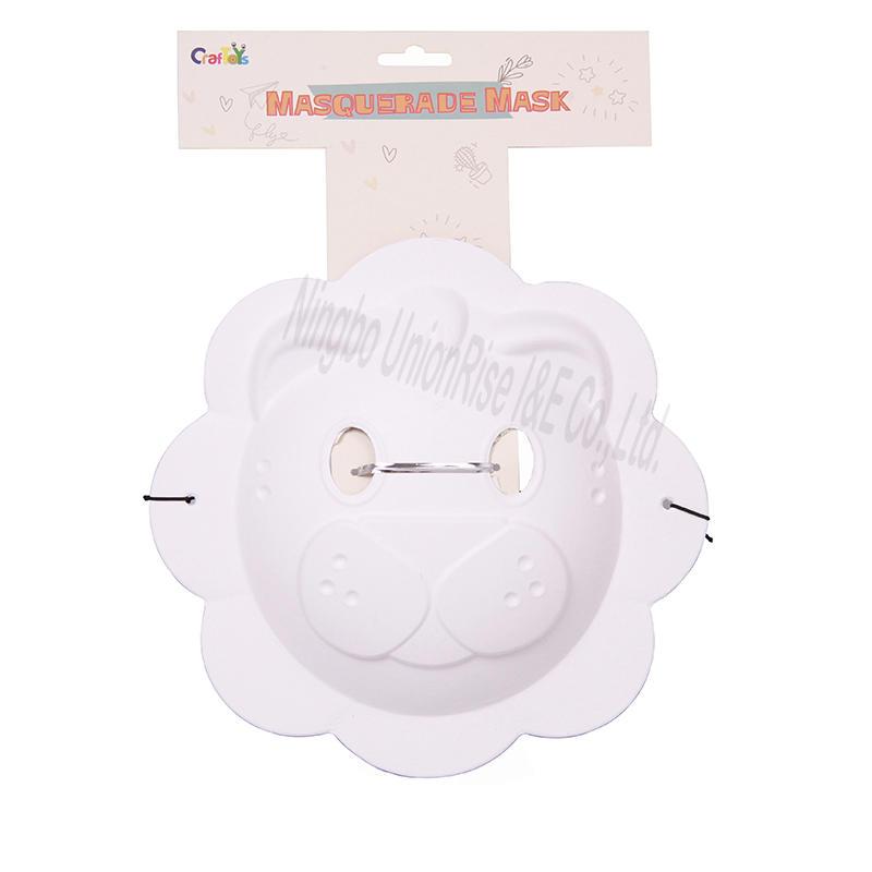 Childrens Paper Mask Full Face - Fox
