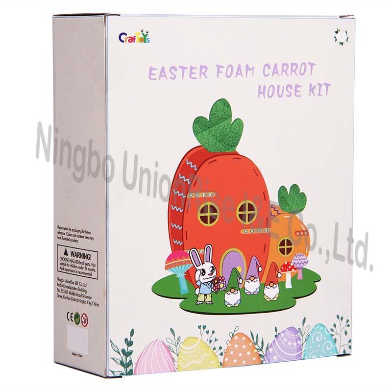 Easter Foam Carrot House Kit