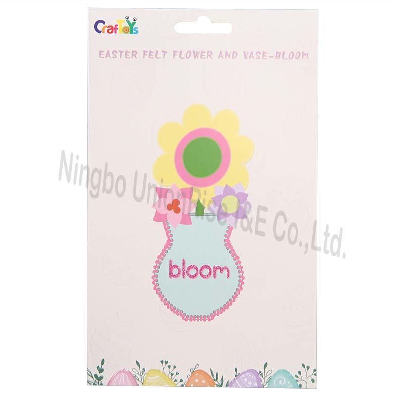 Easter Felt Flower And Vase-Bloom