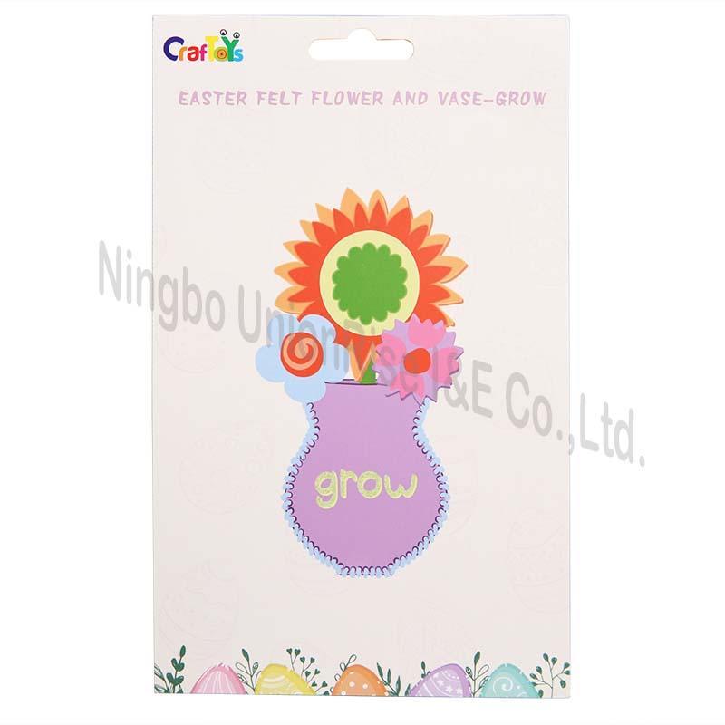 Easter Felt Flower And Vase-Grow
