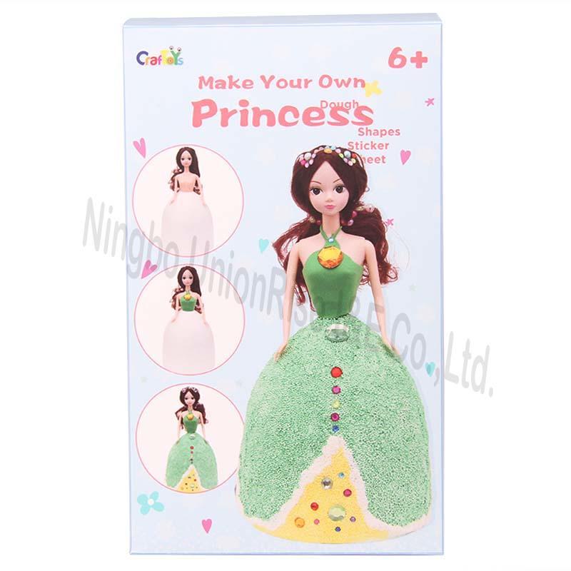 Make Your Own Dough Princess Green Dress