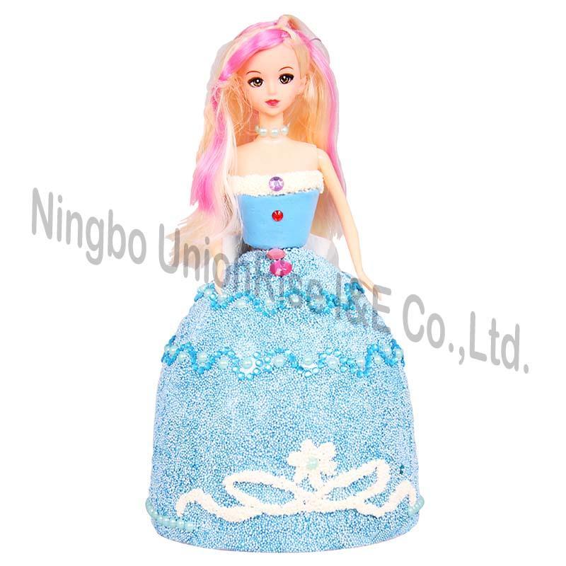 Make Your Own Dough Princess Blue Dress
