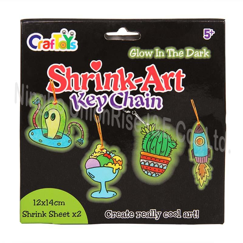 Glow In The Dark Shrink-Art Keychain