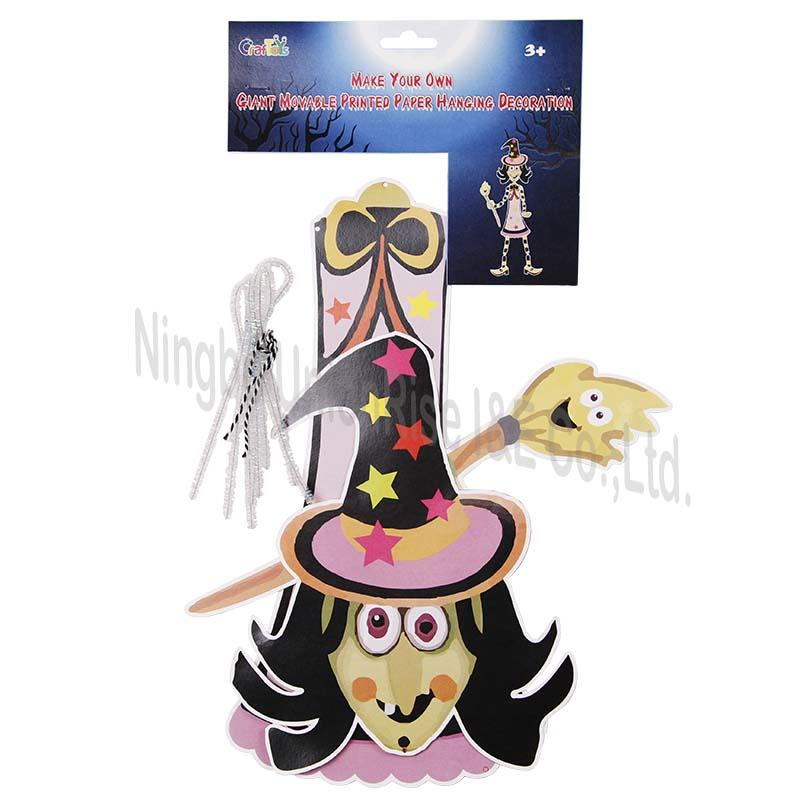 Halloween Make Your Own Giant Paper Witch Hanging Decoration