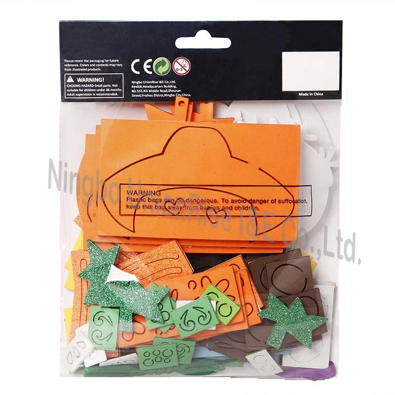 Halloween Make Your Own Foam Day of the Dead Ornaments 12 Pack