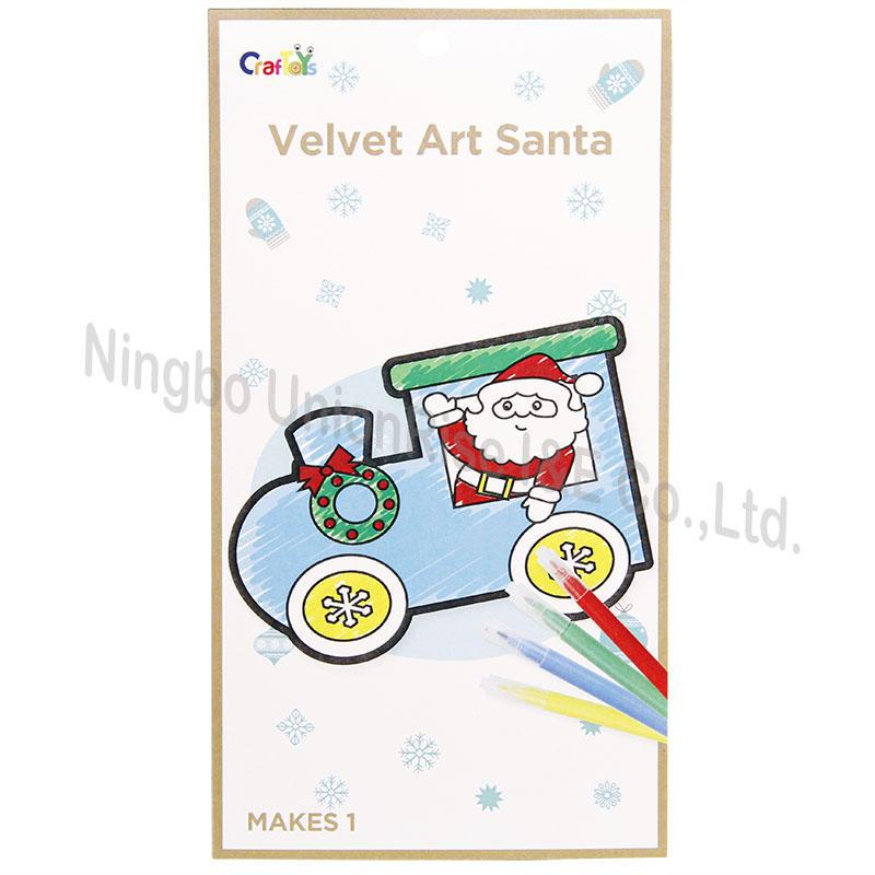 Velvet Art Santa