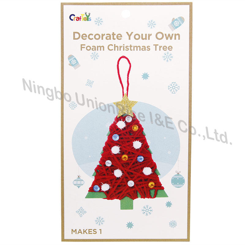 Decorate Your Own Foam Christmas Tree
