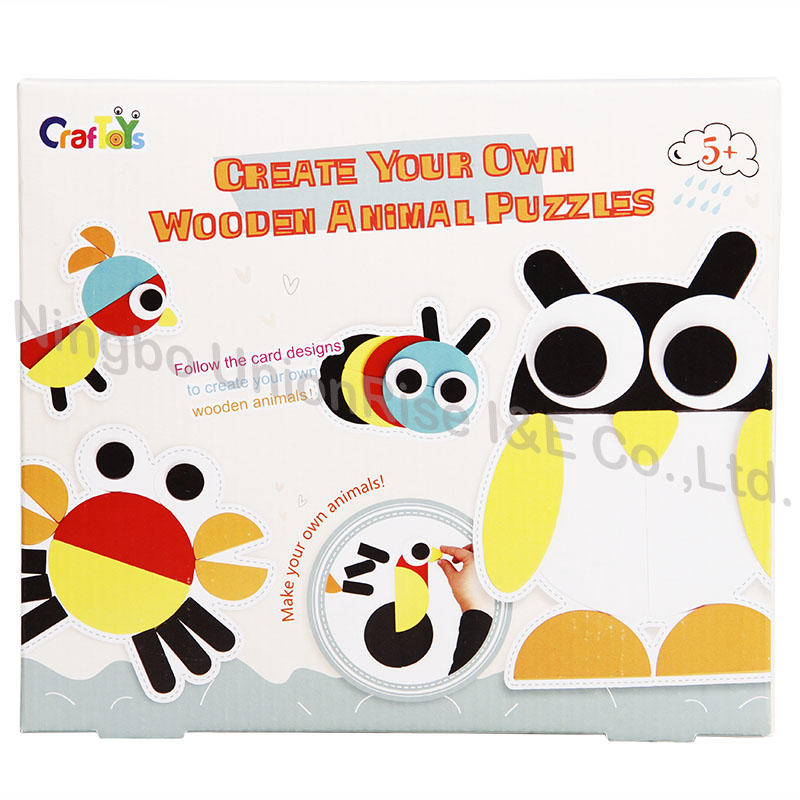 Create Your Own Wooden Animal Puzzles