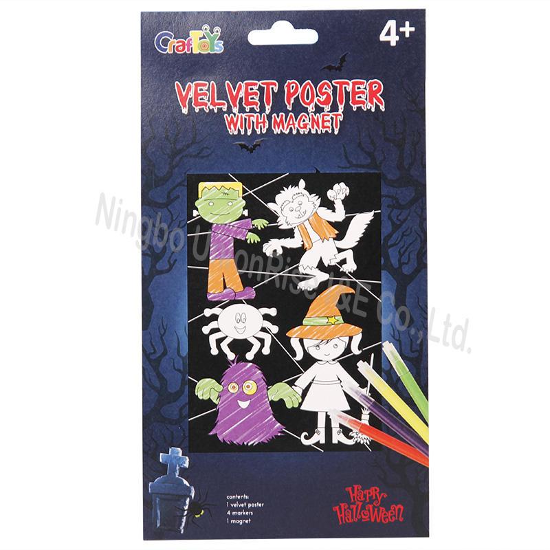 Halloween Velvet Poster With Magnet