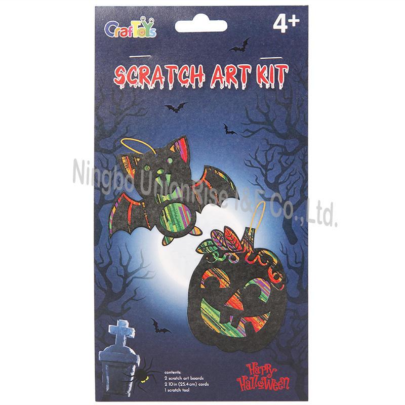 Scratch Art Kit Bat&Pumpkin