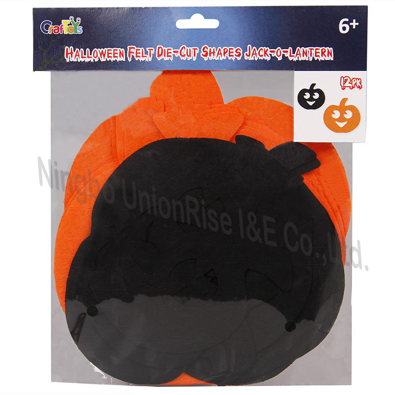 Halloween Felt Die-Cut Shapes Jack-O-Lantern