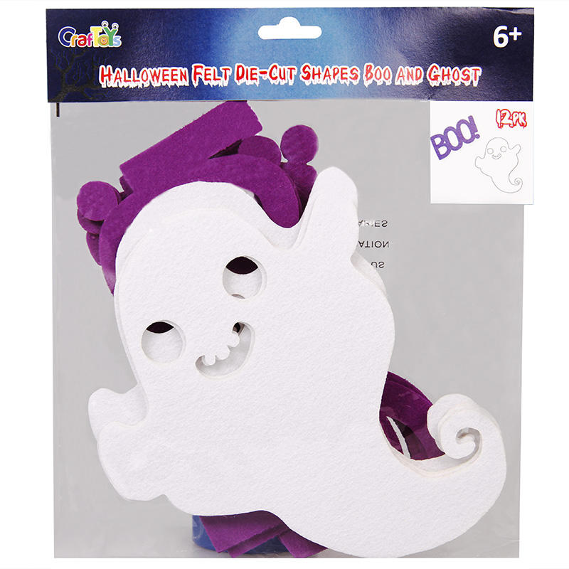 Halloween Felt Die-Cut Shapes Boo and Ghost