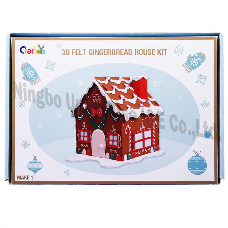 3D Felt Gingerbread House Kit