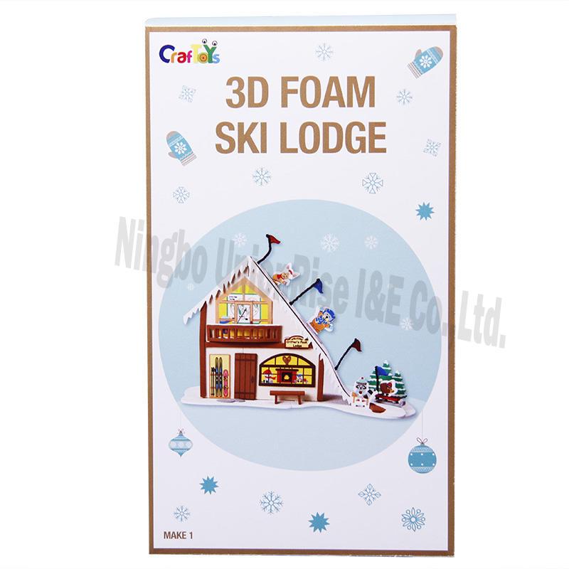 3D Foam Ski Lodge