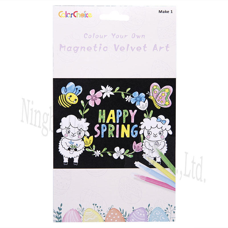 Colour Your Own Magnetic Velvet Art
