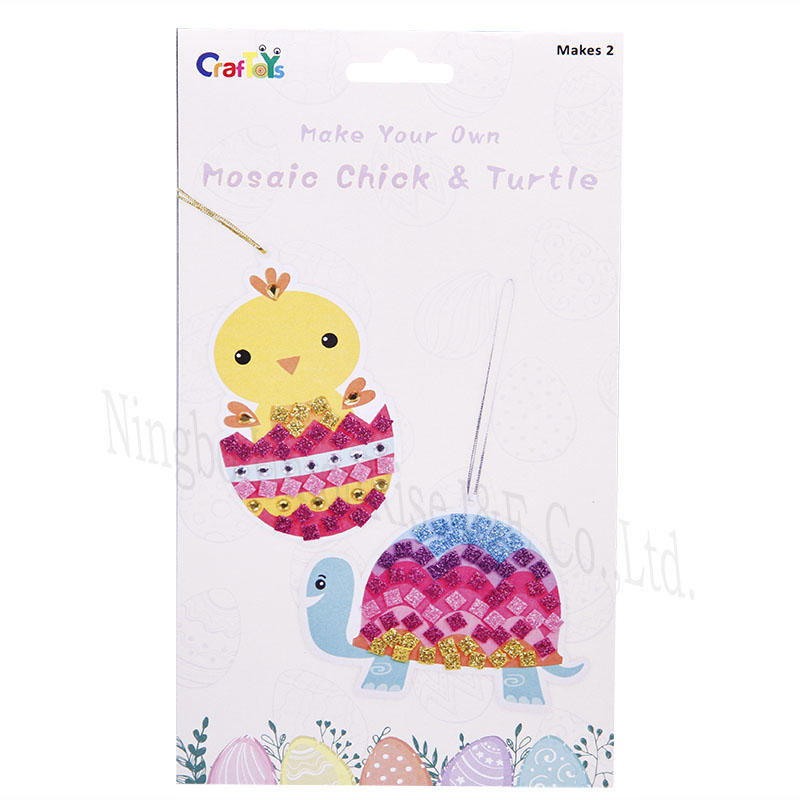 Make Your Own Mosaic Chick & Turtle