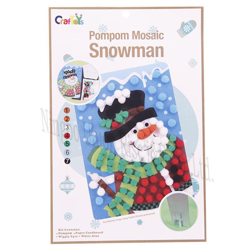 PomPom Mosaic Snowman