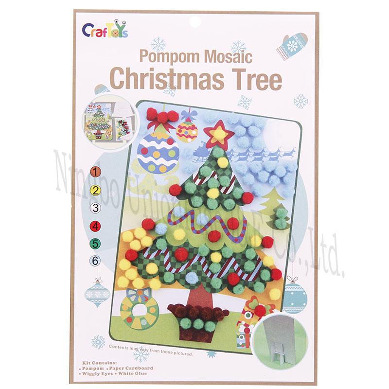 Pompom Mosaic Christmas Tree