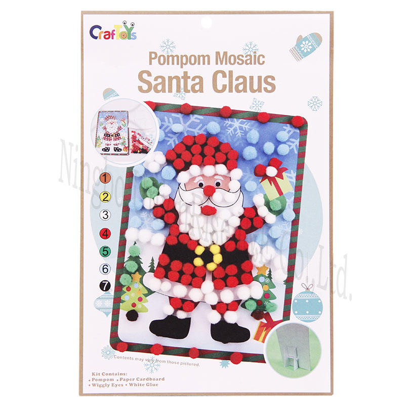 Pompom Mosaic Santa Claus