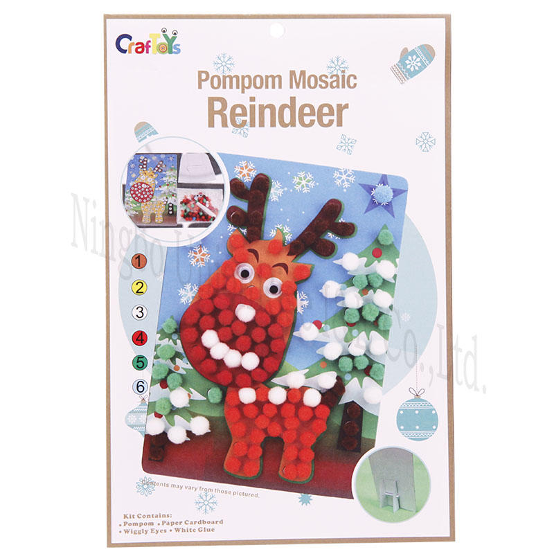 Pompom Mosic Reindeer