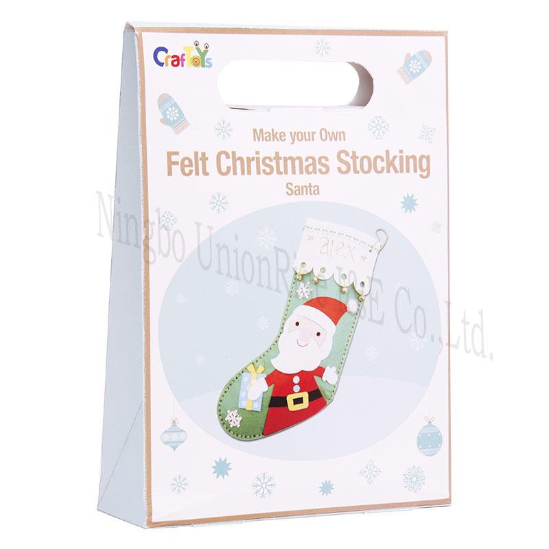 Make your Own Felt Christmas Stocking Santa