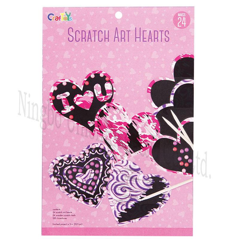 Scratch Art Hearts