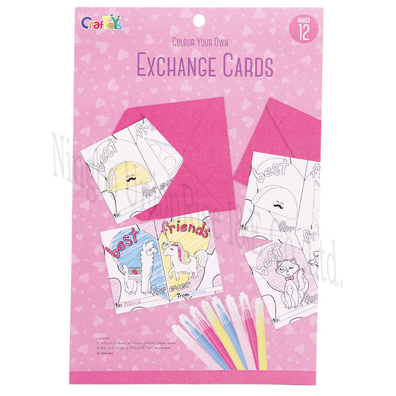 Colour Your Own Exchange Cards