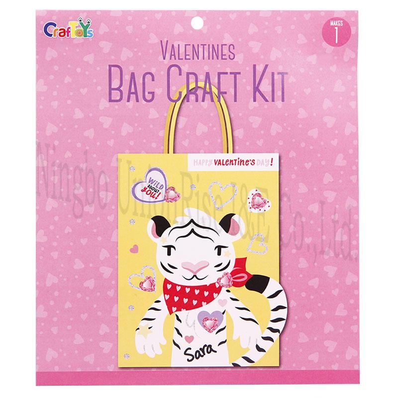 Valentines Bag Craft Kit Tiger