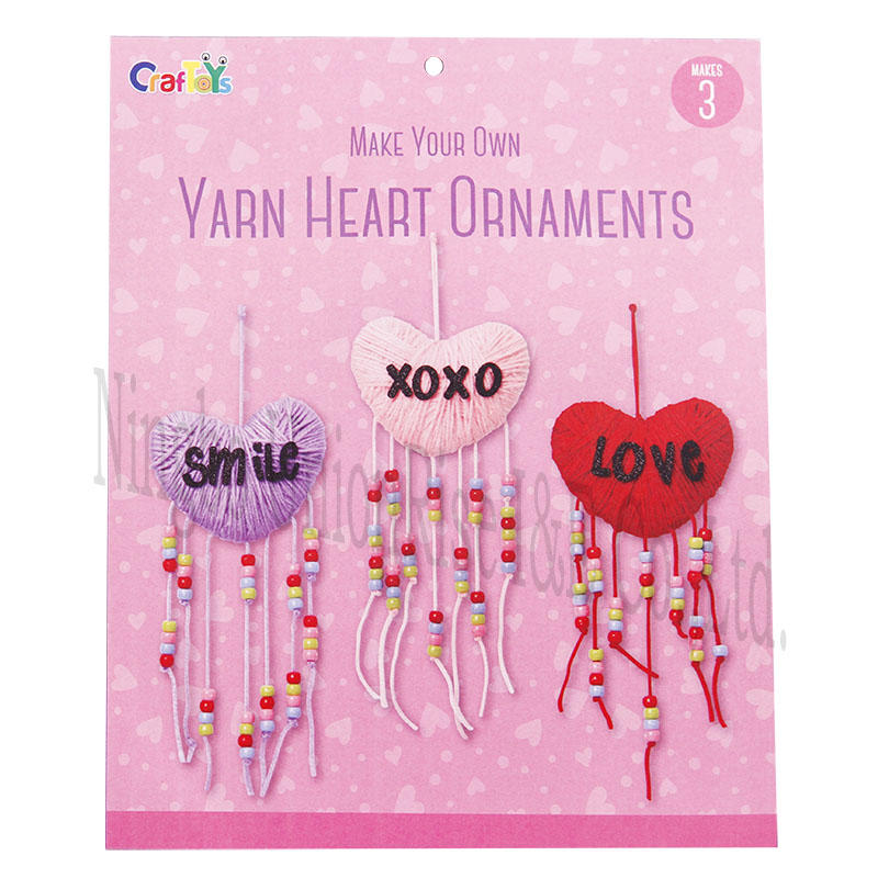 Make Your Own Yarn Heart Ornaments
