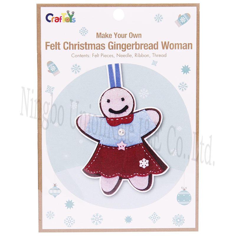 Make Your Own Felt Christmas Gingerbread Man
