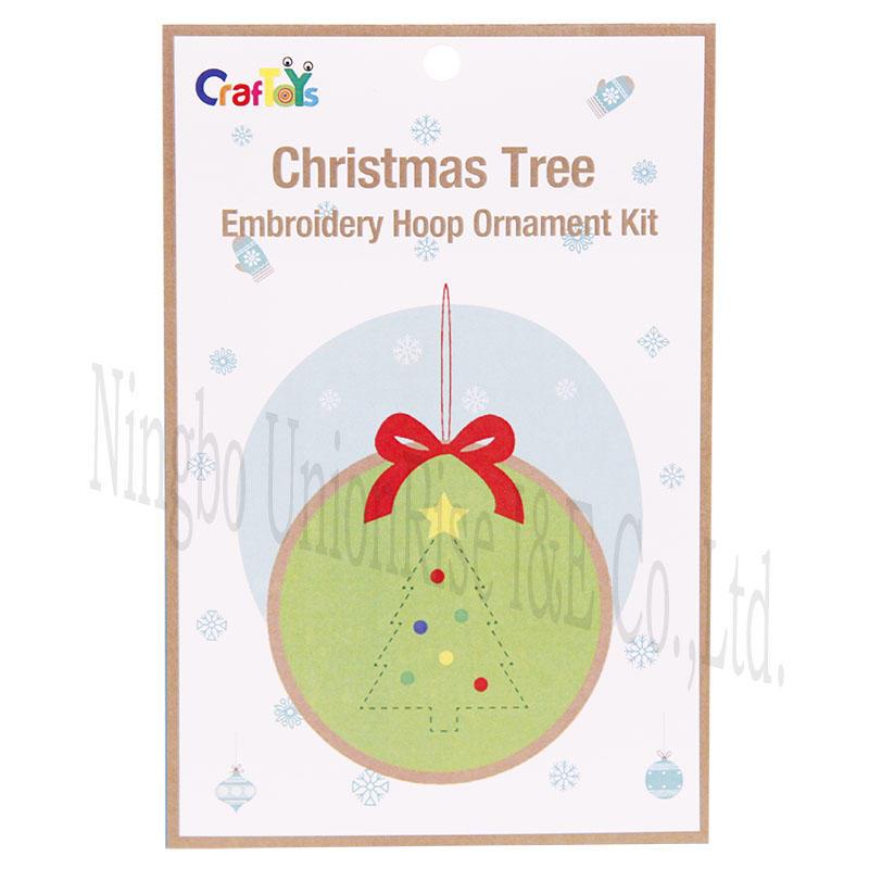 Christmas Tree Embroidery Hoop Ornament Kit
